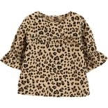 Toddler Girl Carter's Cheetah Bell Top