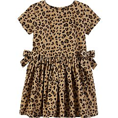 Toddler Girl Carter's Cheetah Print Corduroy Dress