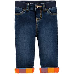 Baby Boy OshKosh B'gosh® Plaid Lined Jeans