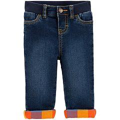 Baby Boy OshKosh B'gosh® Plaid Lined Jeans