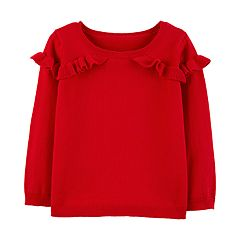 Toddler Girl Carter's Ruffled Sweater