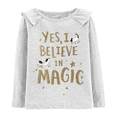 Toddler Girl Carter's 'Yes I Believe In Magic' Glitter Graphic Top