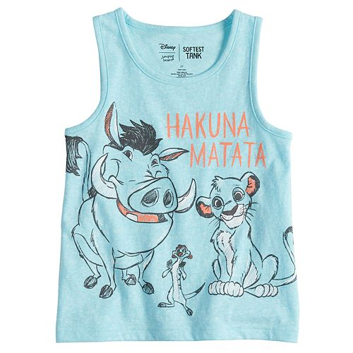 67ca0e8a10af5 Disney s The Lion King Toddler Boy Hakuna Matata Softest Tank Top by  Jumping Beans®