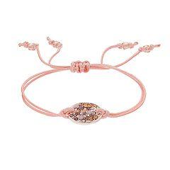 LC Lauren Conrad Disc Pink Cord Friendship Bracelet