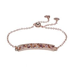 LC Lauren Conrad Simulated Crystal Bar Link Pull Tie Bracelet