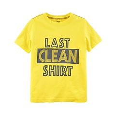 Boys 4-8 Carter's 'Last Clean Shirt' Graphic Tee