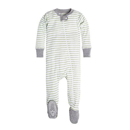 Burt's Bees Baby Organic Striped Footed Pajamas