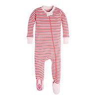 Burt's Bees Baby Organic Striped Footed Pajamas