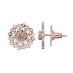 LC Lauren Conrad Filigree Disc Nickel Free Stud Earrings