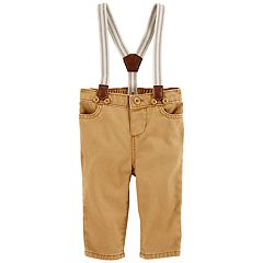 Baby Boy OshKosh B'gosh® Twill Suspender Pants