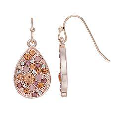 LC Lauren Conrad Nickel Free Pave Teardrop Earrings