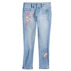Girls 4-12 SONOMA Goods for Life™ Embroidered Flower Jeggings