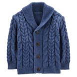 Baby Boy OshKosh B'gosh® Cable Knit Shawl Cardigan