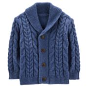 Baby Boy OshKosh B'gosh® Cable Knit Shawl Cardigan