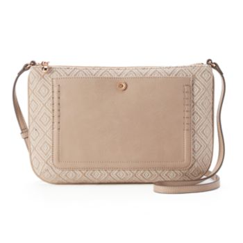 LC Lauren Conrad Bonne Geometric Crossbody Bag