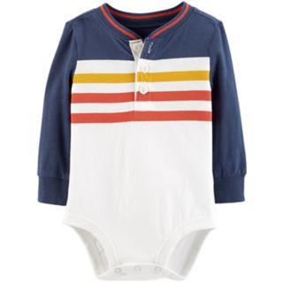 Baby Boy OshKosh B'gosh® Striped Henley Bodysuit