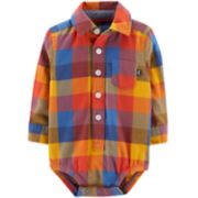 Baby Boy OshKosh B'gosh® Plaid Collared Bodysuit