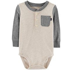 Baby Boy OshKosh B'gosh® Pocket Henley Bodysuit