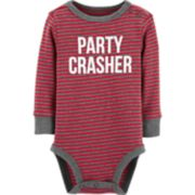 "Baby Boy OshKosh B'gosh® ""Party Crasher"" Striped Bodysuit"