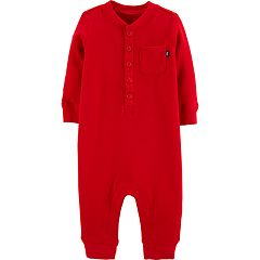 Baby Boy OshKosh B'gosh® Thermal 'B Jolly' Henley Jumpsuit Coverall