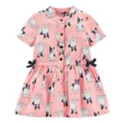 Baby Girl Carter's French Bulldog Henley Dress