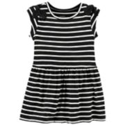 Baby Girl Carter's Striped Bow-Shoulder Dress