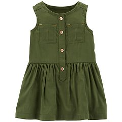 Baby Girl Carter's Shirred Henley Dress
