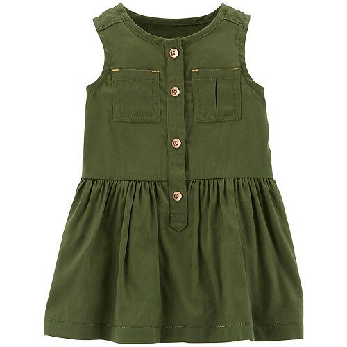 Baby Girl Carter's Shirred Henley Dress