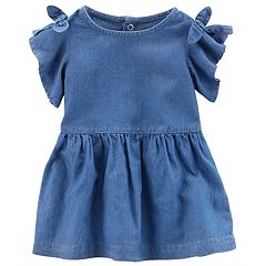 Baby Girl Carter's Cold-Shoulder Chambray Dress