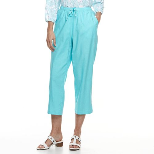 Women's Cathy Daniels Pull On Linen-Blend Capris
