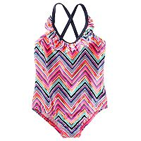 Girls 4-8 OshKosh B'gosh® Chevron Ruffled One-Piece Swimsuit