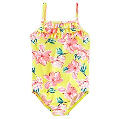 Girls 4-8 OshKosh B'gosh® Yellow Floral One-Piece Swimsuit