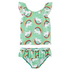 Girls 4-8 Carter's Rainbow Unicorn Tankini Top & Bottoms Swimsuit Set