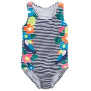 Girls 4-8 Carter's Striped Tropical One-Piece Swimsuit