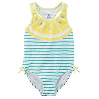 Girls 4-8 Carter's Lemon Striped One-Piece Swimsuit