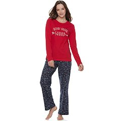 Women's Jammies For Your Families 'Heart Break Squad' Top & Arrow Pants Pajama Set
