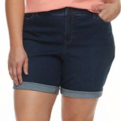 Plus Size Croft & Barrow® Denim Shorts