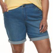 Plus Size Croft & Barrow® Denim Shorts