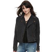 Women's Rock & Republic® French Terry Moto Jacket