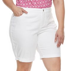 Plus Size Croft & Barrow® Denim Bermuda Shorts