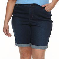 Plus Size Croft & Barrow® Denim Bermuda Shorts