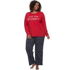 Plus Size Jammies For Your Families 'Heart Break Squad' Top & Arrow Pants Pajama Set