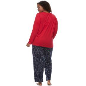 "Plus Size Jammies For Your Families ""Heart Break Squad"" Top & Arrow Pants Pajama Set"