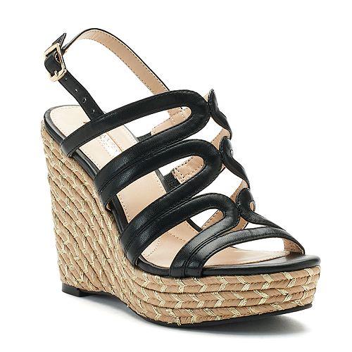Jennifer Lopez Birch Strappy Wedge Sandals