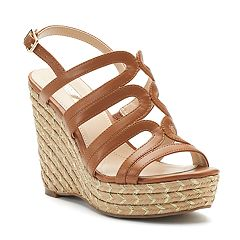 Jennifer Lopez Brich Strappy Wedge Sandals