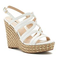 Jennifer Lopez Birch Strappy Wedge Sandals