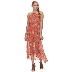 Juniors' Lily Rose Floral Halter Midi Dress