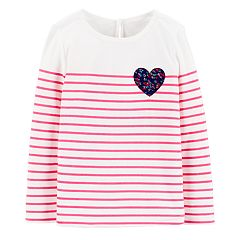 Toddler Girl OshKosh B'gosh® Heart & Striped Tee