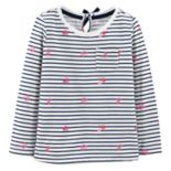 Toddler Girl OshKosh B'gosh® Tie-Back Striped Pocket Tee