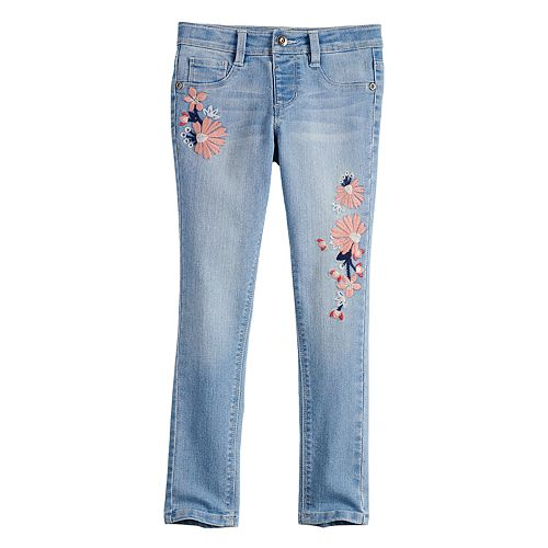 Girls 4-12 SONOMA Goods for Life® Floral Embroidered Jeggings